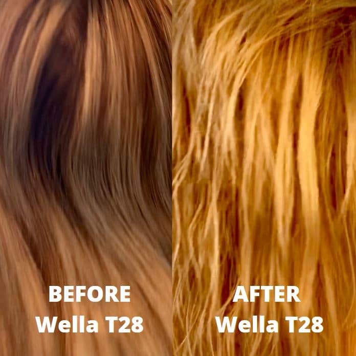Before And After Pics Of Wella T28 Natural Blonde Toner
