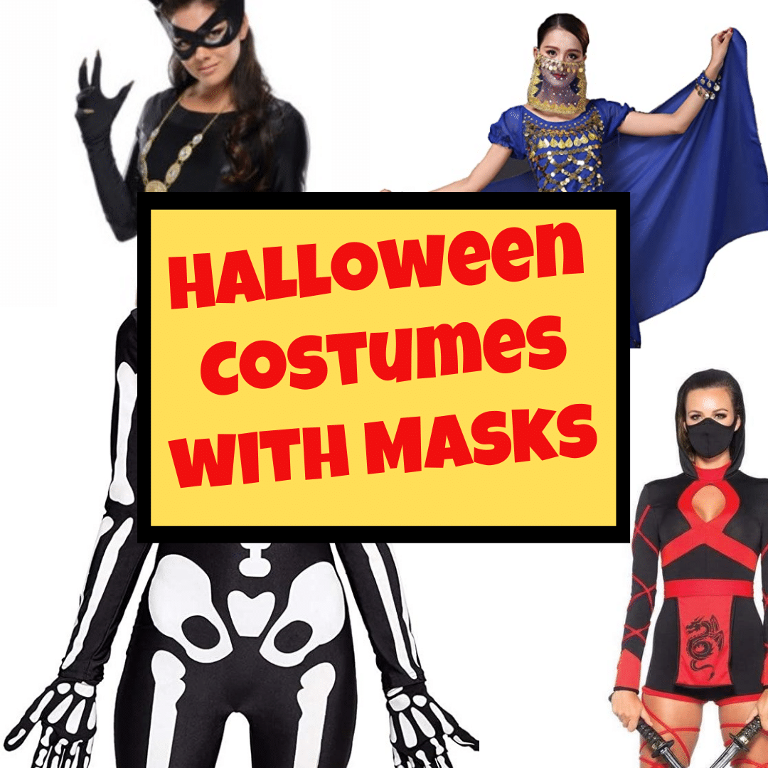 sexy Halloween costume ideas for women with face mask and with COVID masks as Halloween costume ideas for 2020 by Very Easy Makeup