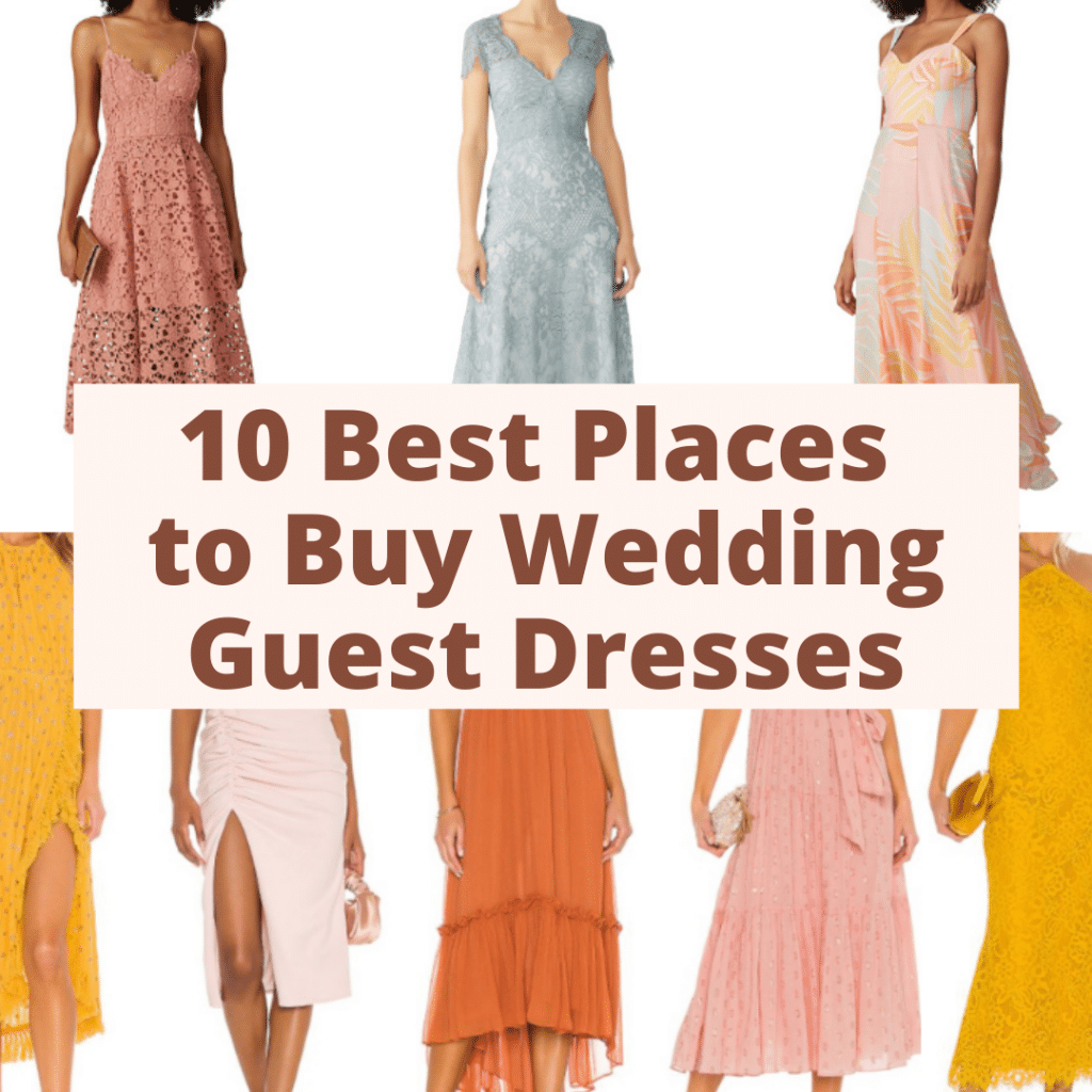 The 20 best places to buy wedding guest dresses online.
